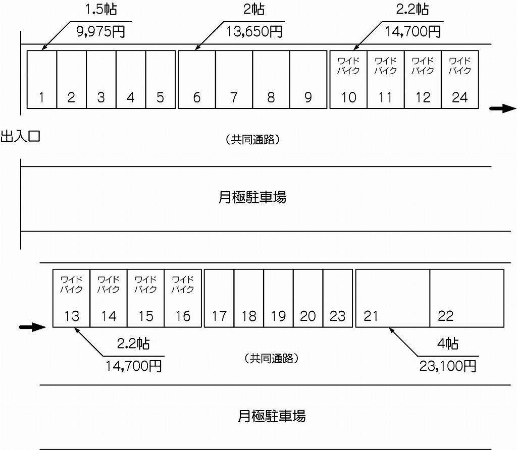 武蔵浦和・白幡店の配置図