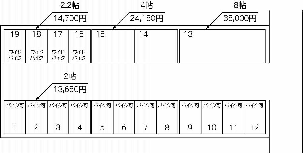 北戸田駅西口パート3の配置図