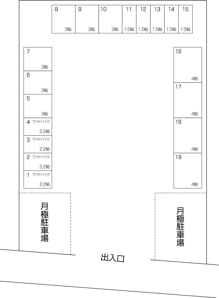 戸田本町2丁目店の配置図