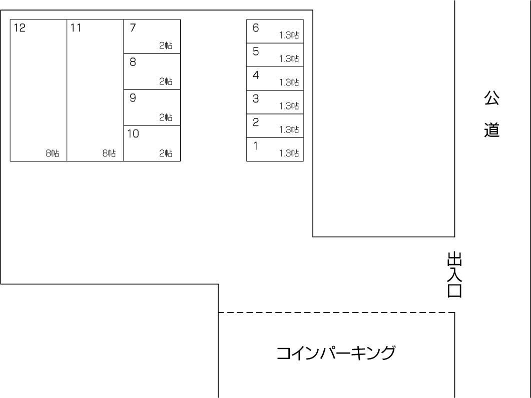 戸田川岸店の配置図