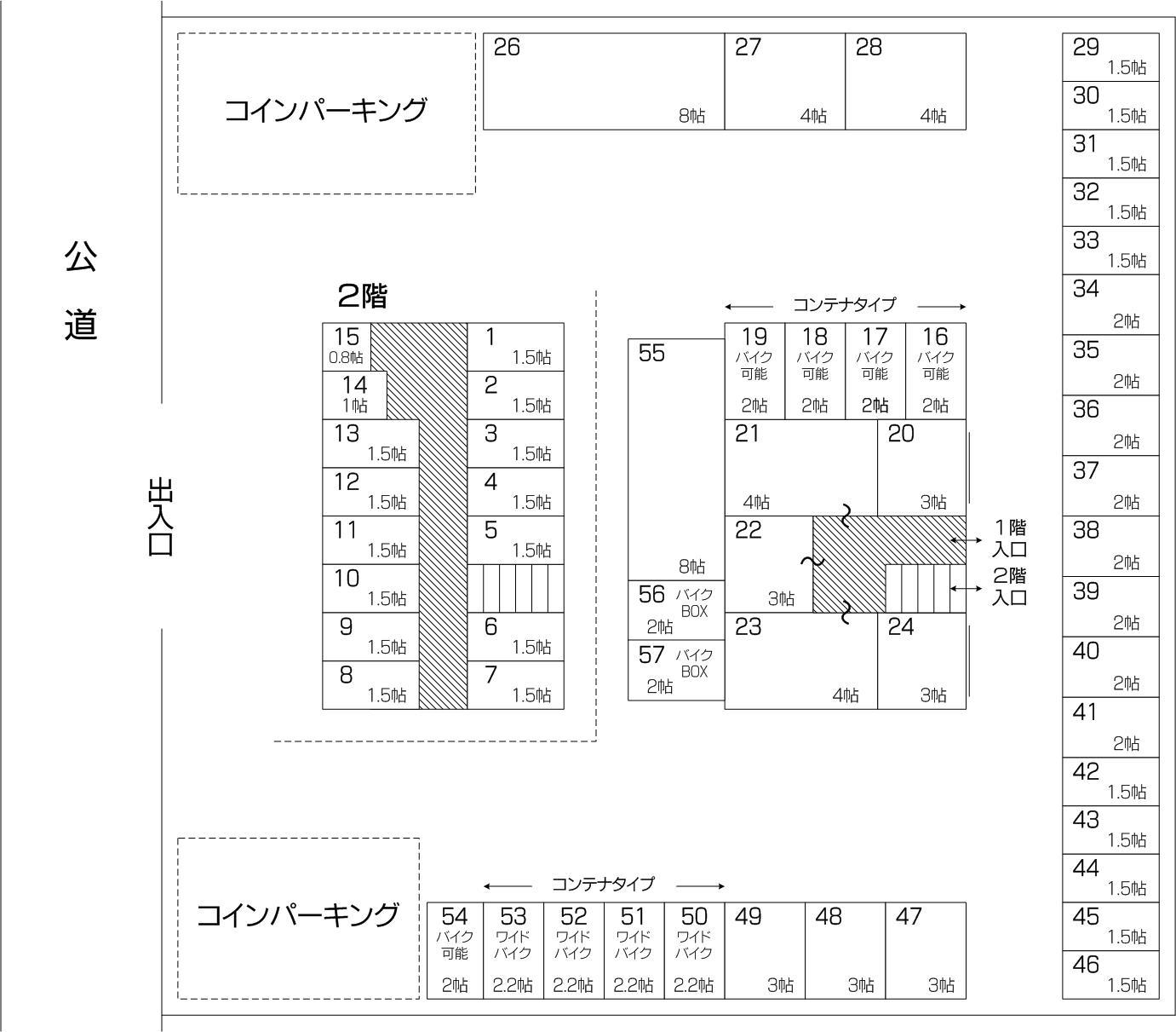 武蔵浦和アウトレット店の配置図