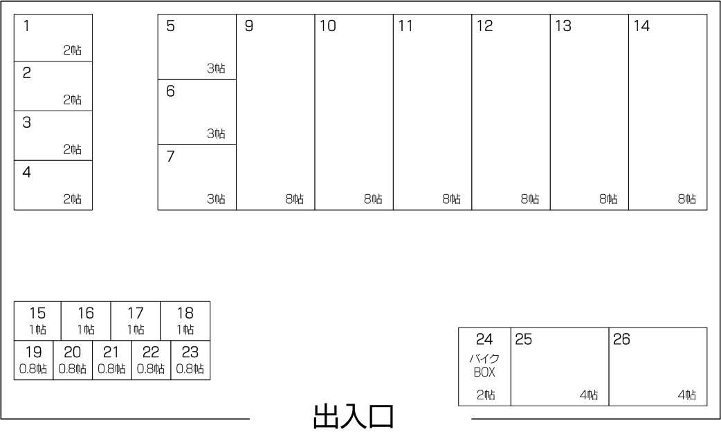 笹目南町店パート2の配置図