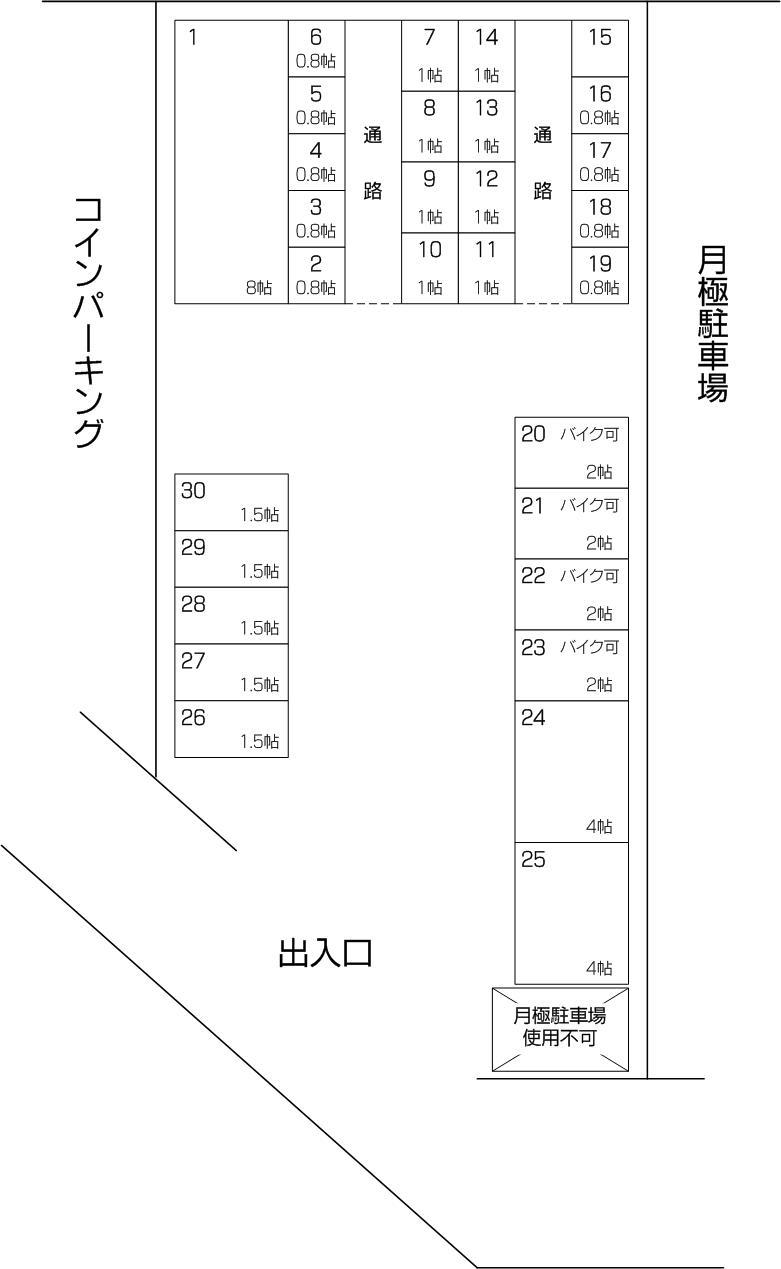 武蔵浦和・白幡店パート2の配置図