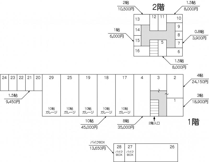 北戸田駅東口店の配置図