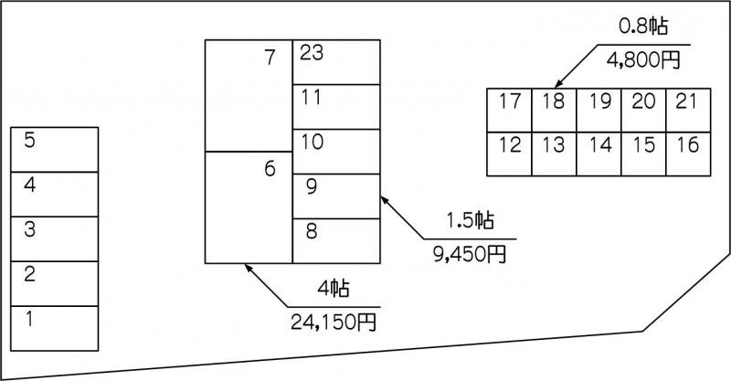 北戸田駅西口店の配置図