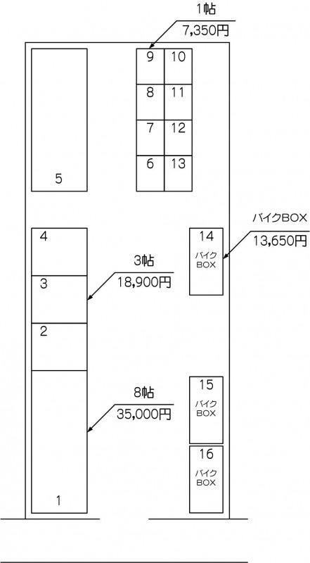 北戸田駅西口パート2の配置図