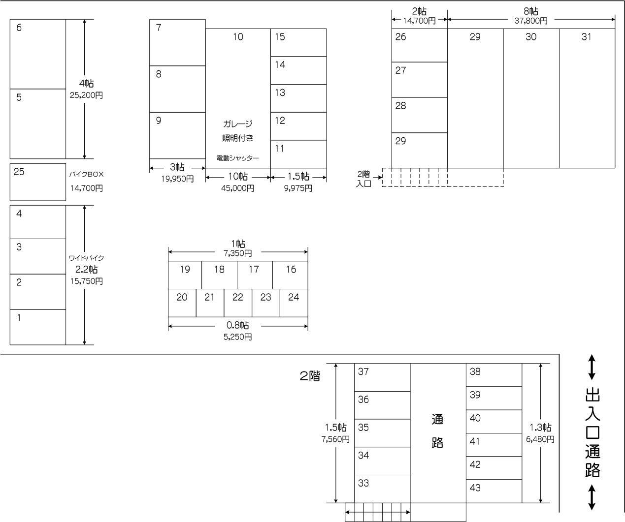 戸田セントラル店の配置図