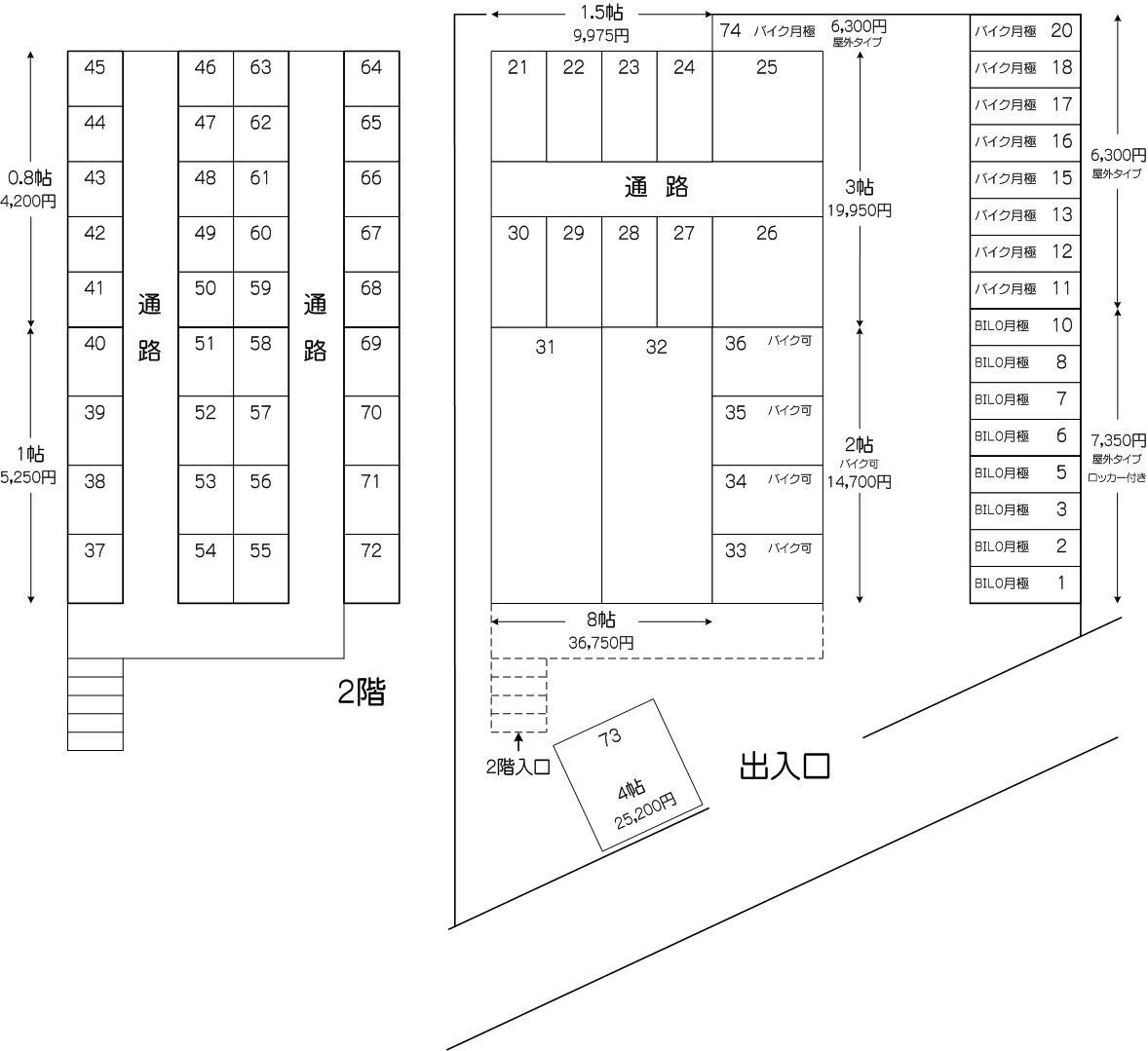 戸田フロンティア店の配置図