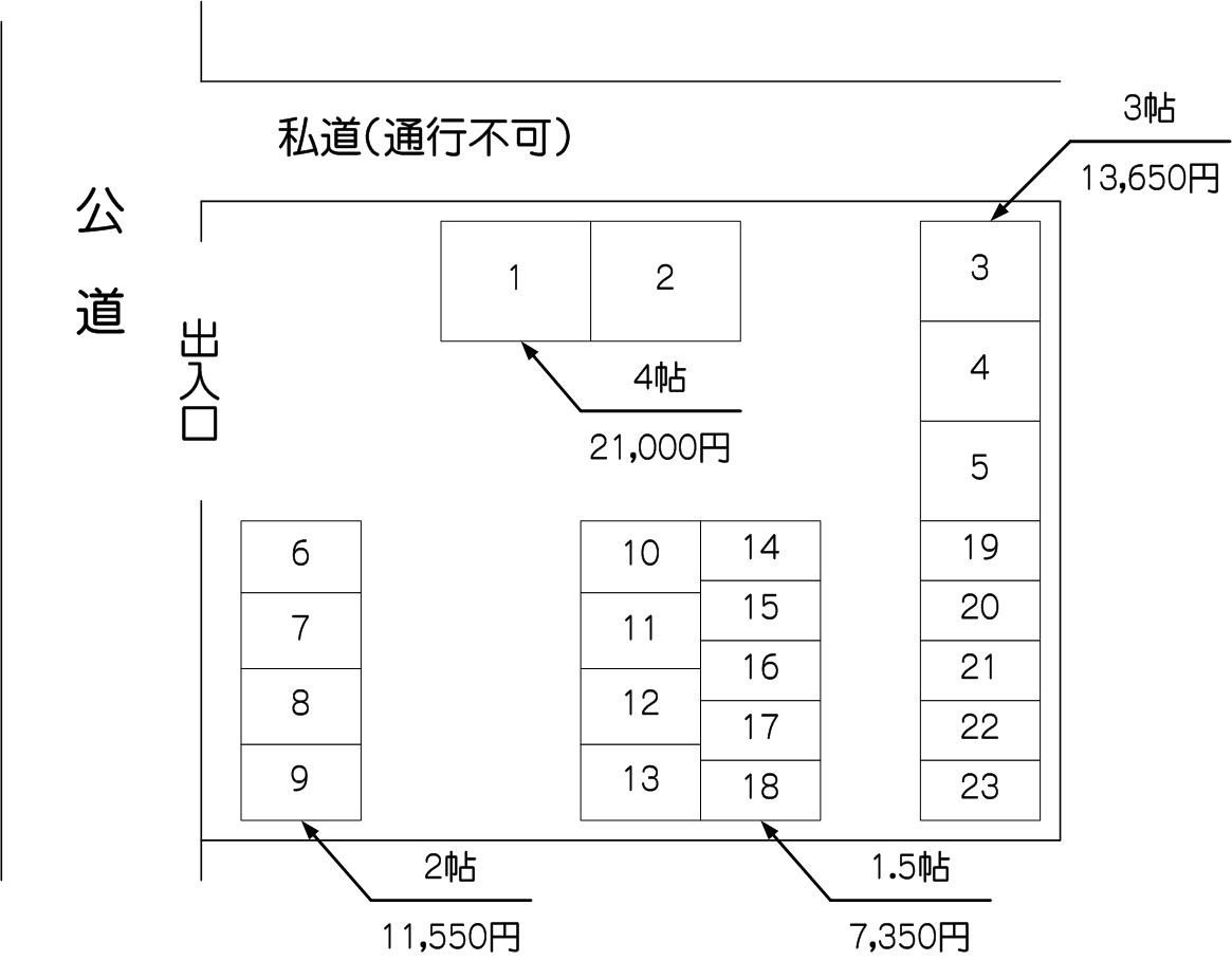 戸田アウトレット店パート2の配置図