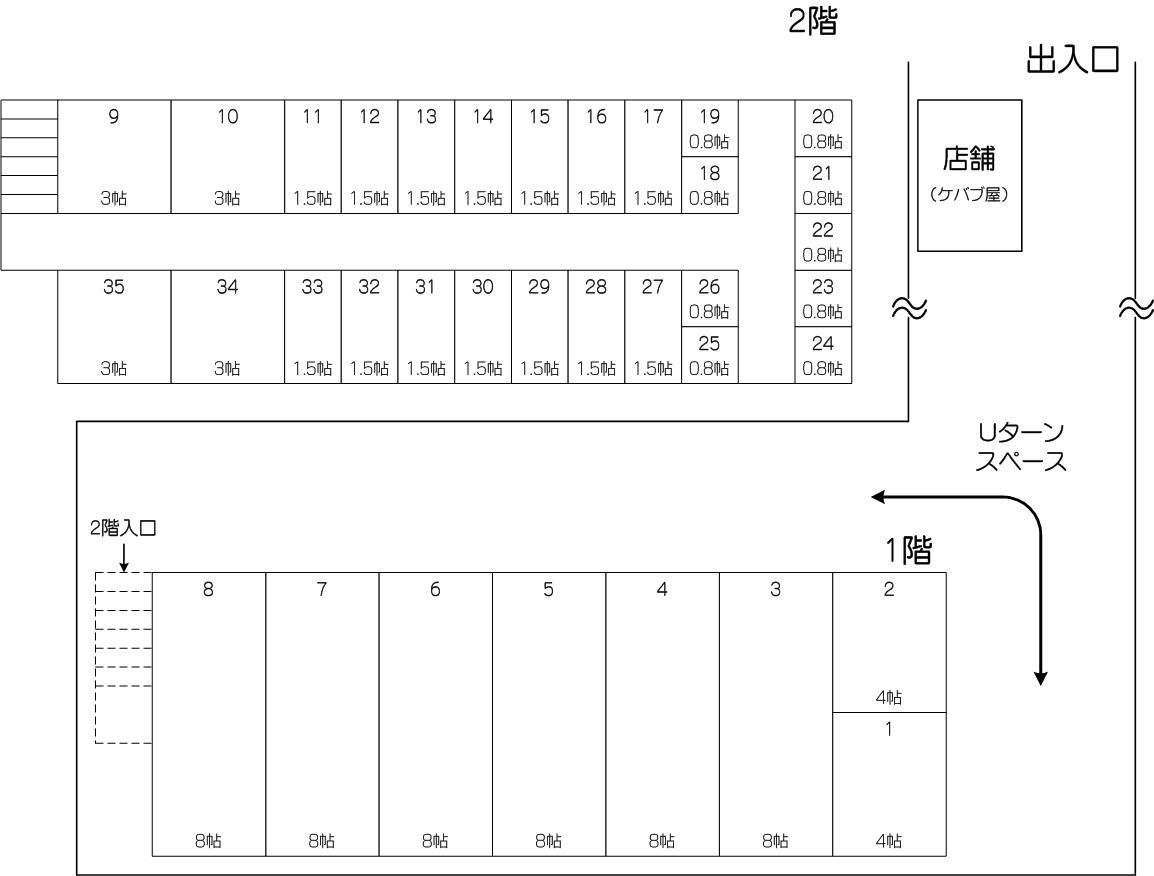 戸田公園駅東口店の配置図