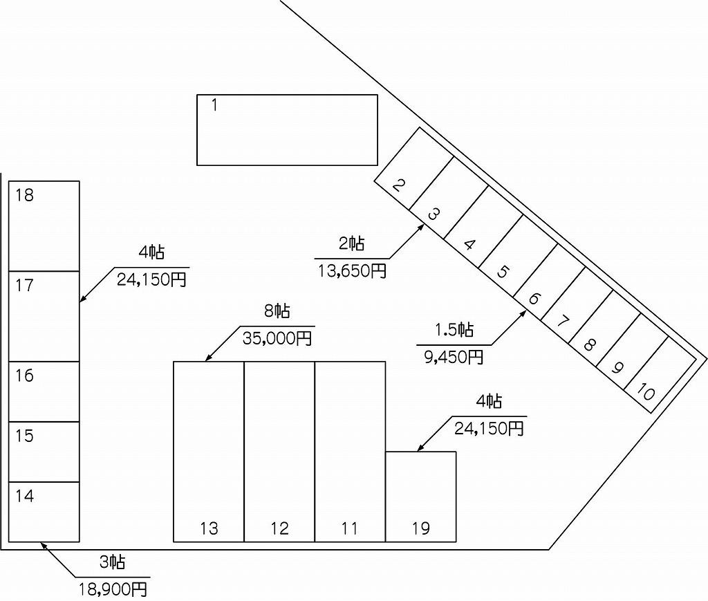 笹目南町店の配置図