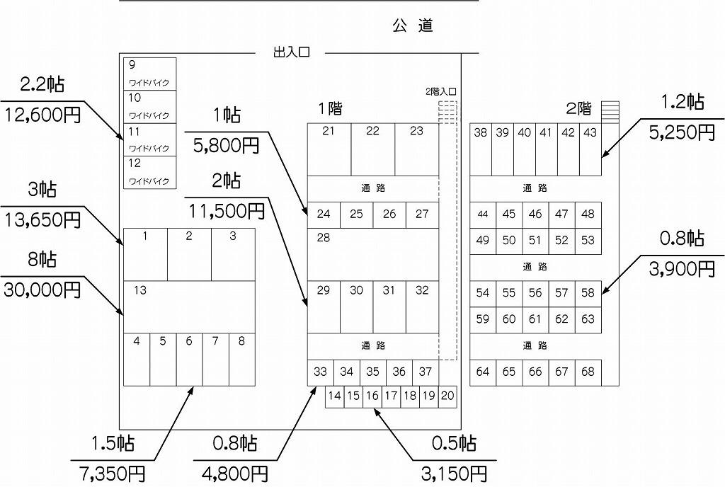 戸田アウトレット店の配置図