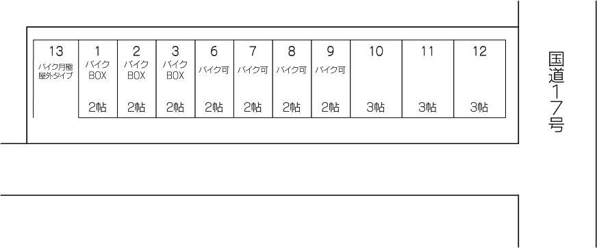 蕨17号店の配置図