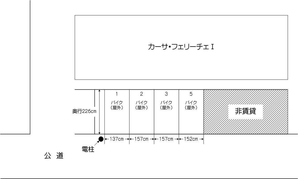 バイクパーキング戸田公園店の配置図