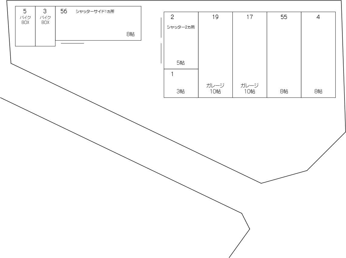 ガレージコンテナ新曽笹目川店の配置図