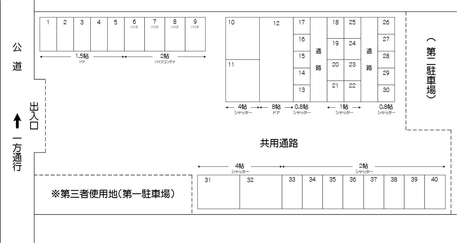 川口芝富士アウトレット店の配置図