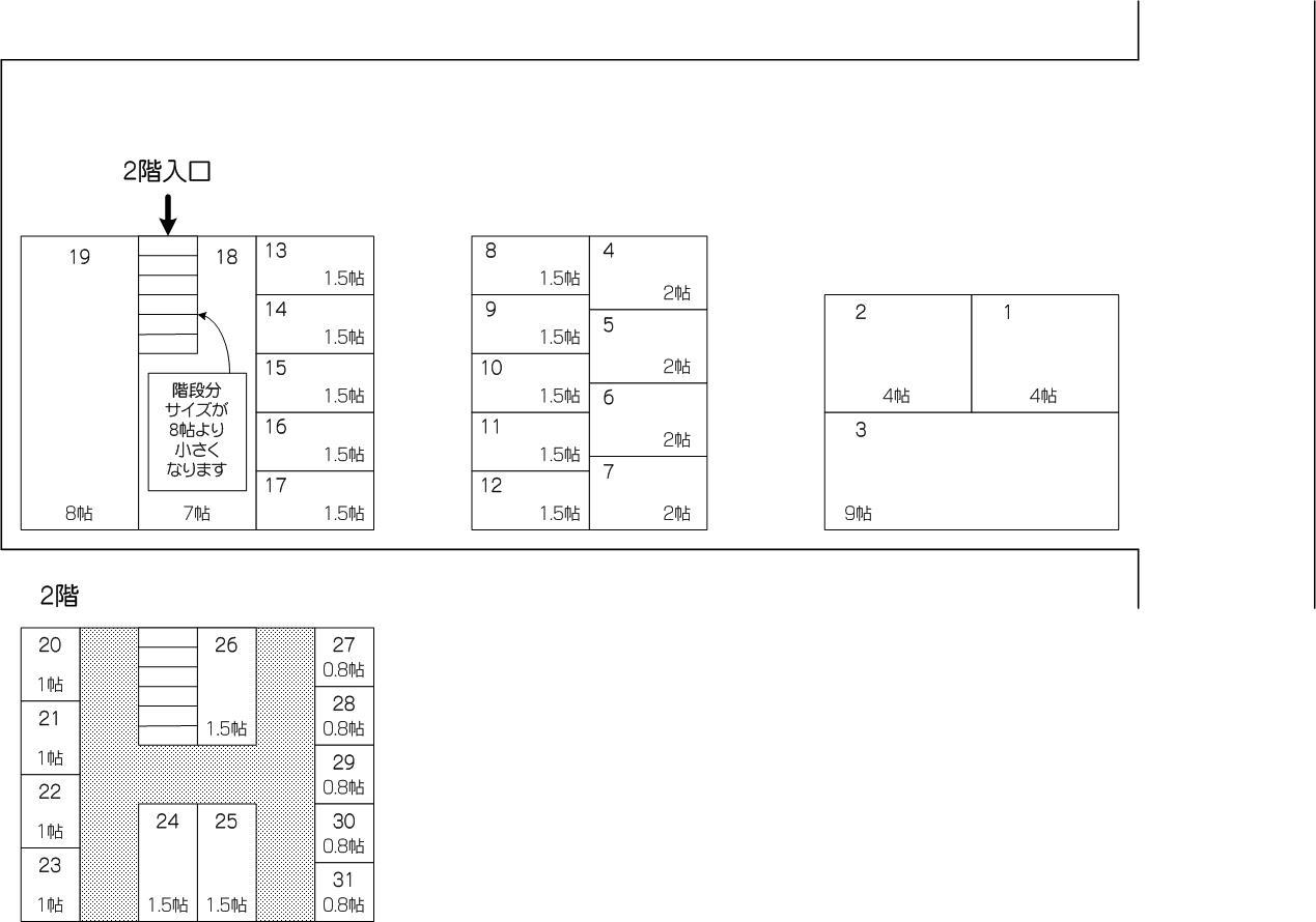 New内谷店の配置図