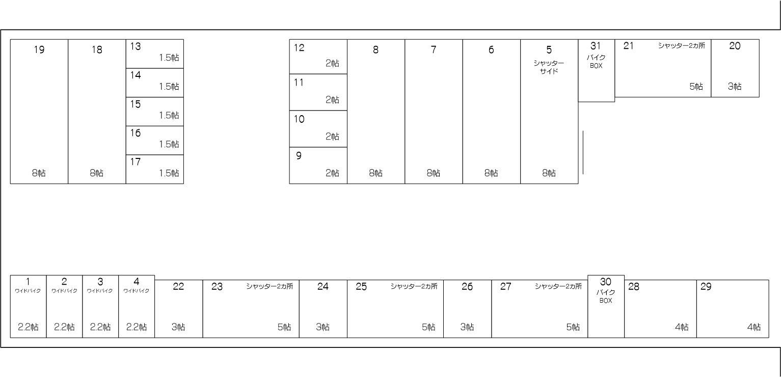 新内谷店の配置図