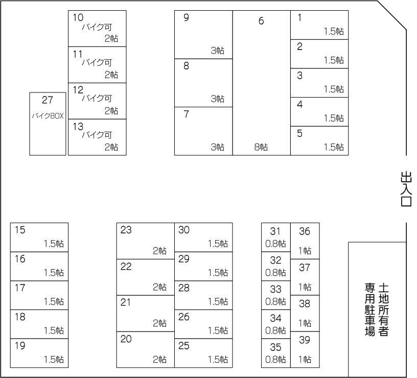 川口柳崎パート2の配置図