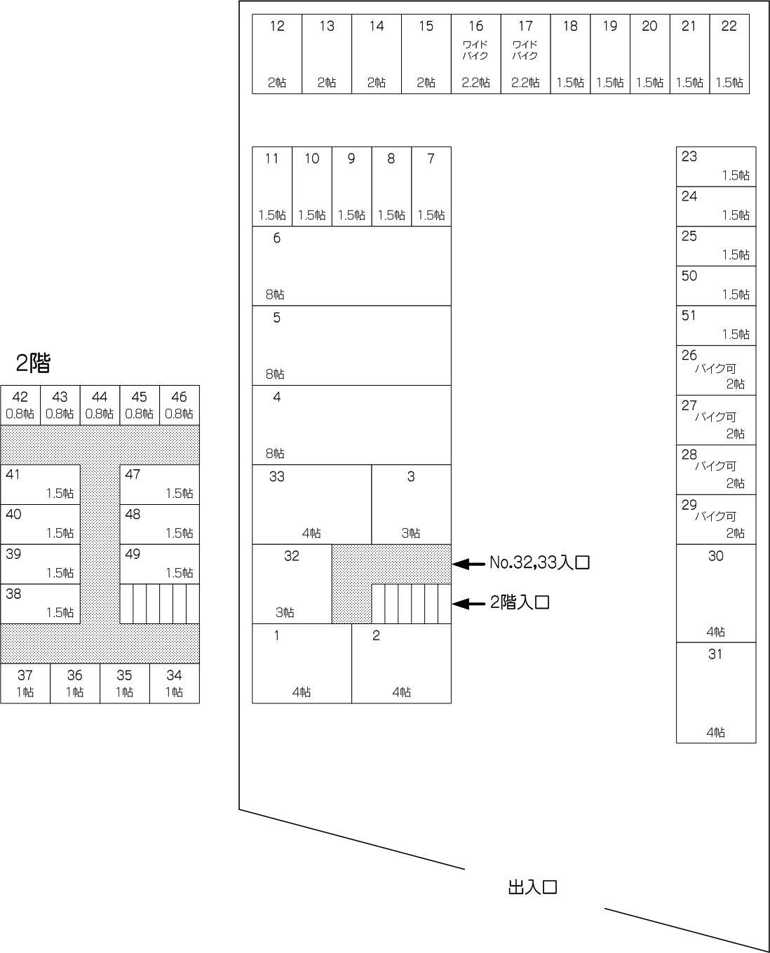 東浦和駅前通り店の配置図