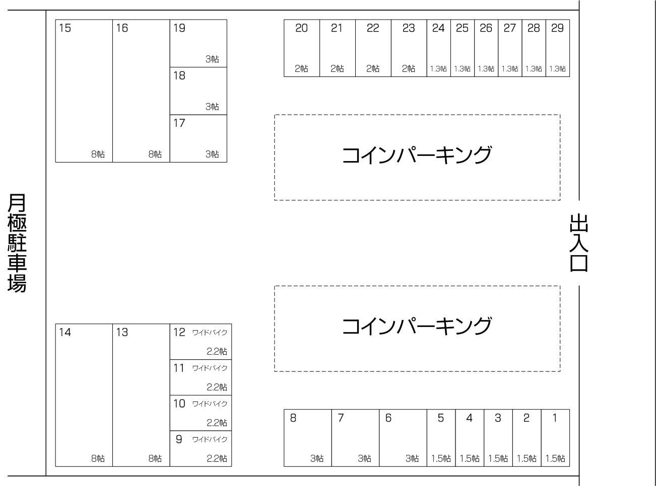 フクちゃんコンテナ蕨錦町店の配置図
