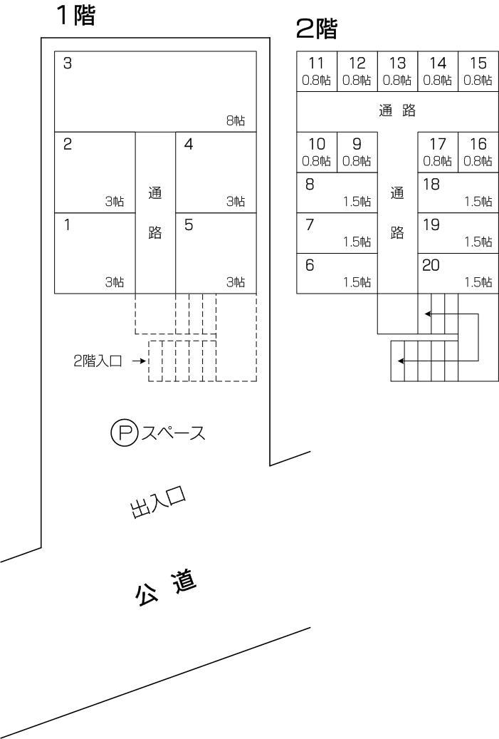 プレミアムトランク・北戸田店の配置図