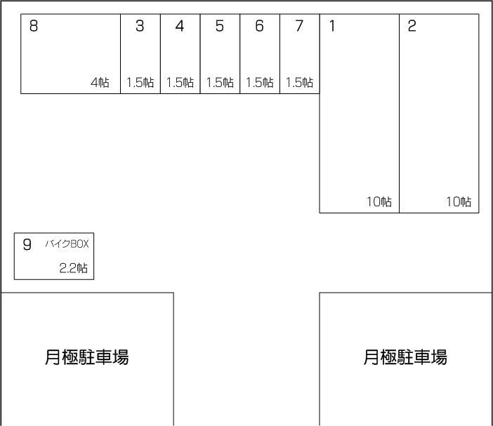下戸田アウトレット店の配置図