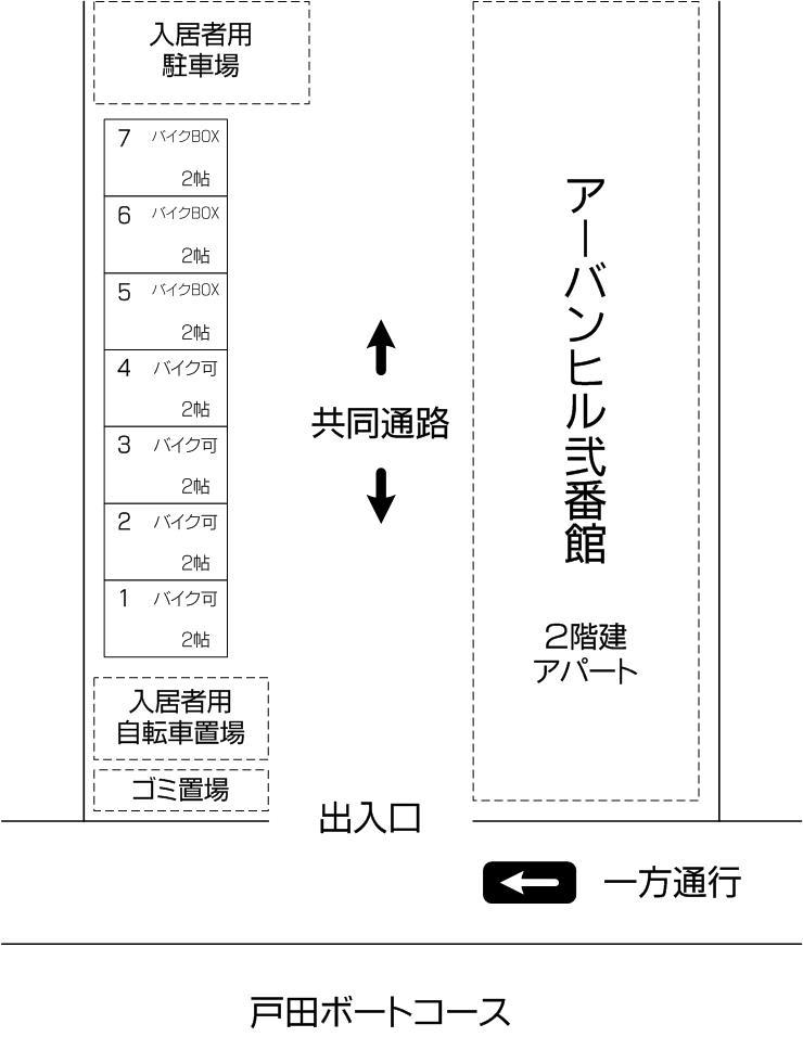 戸田公園店アネックスの配置図