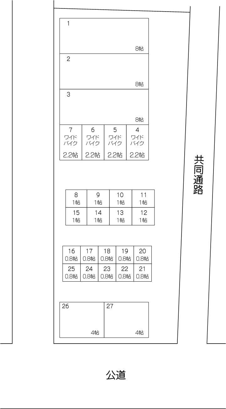 芝塚原店の配置図