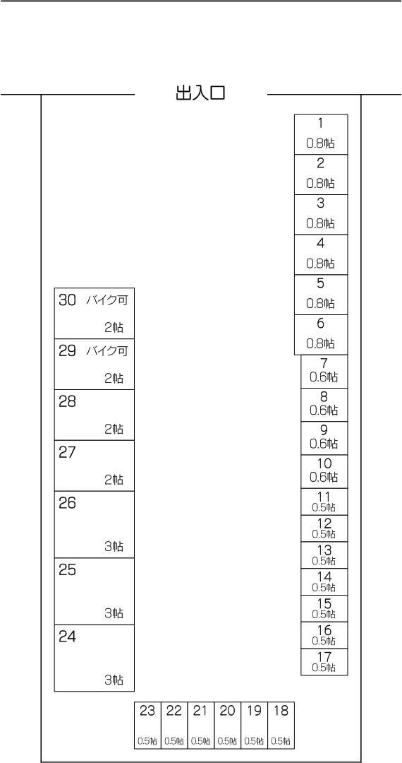 レンタルスペースi New志木店の配置図