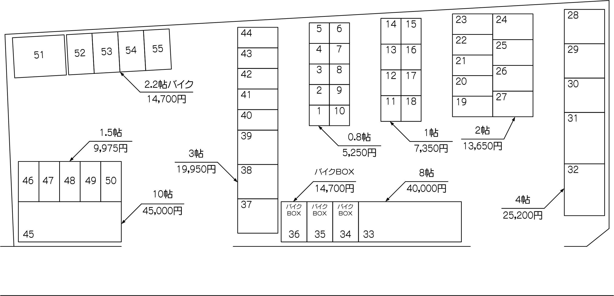 下戸田店の配置図