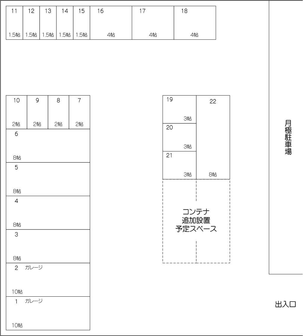 戸田大地店の配置図