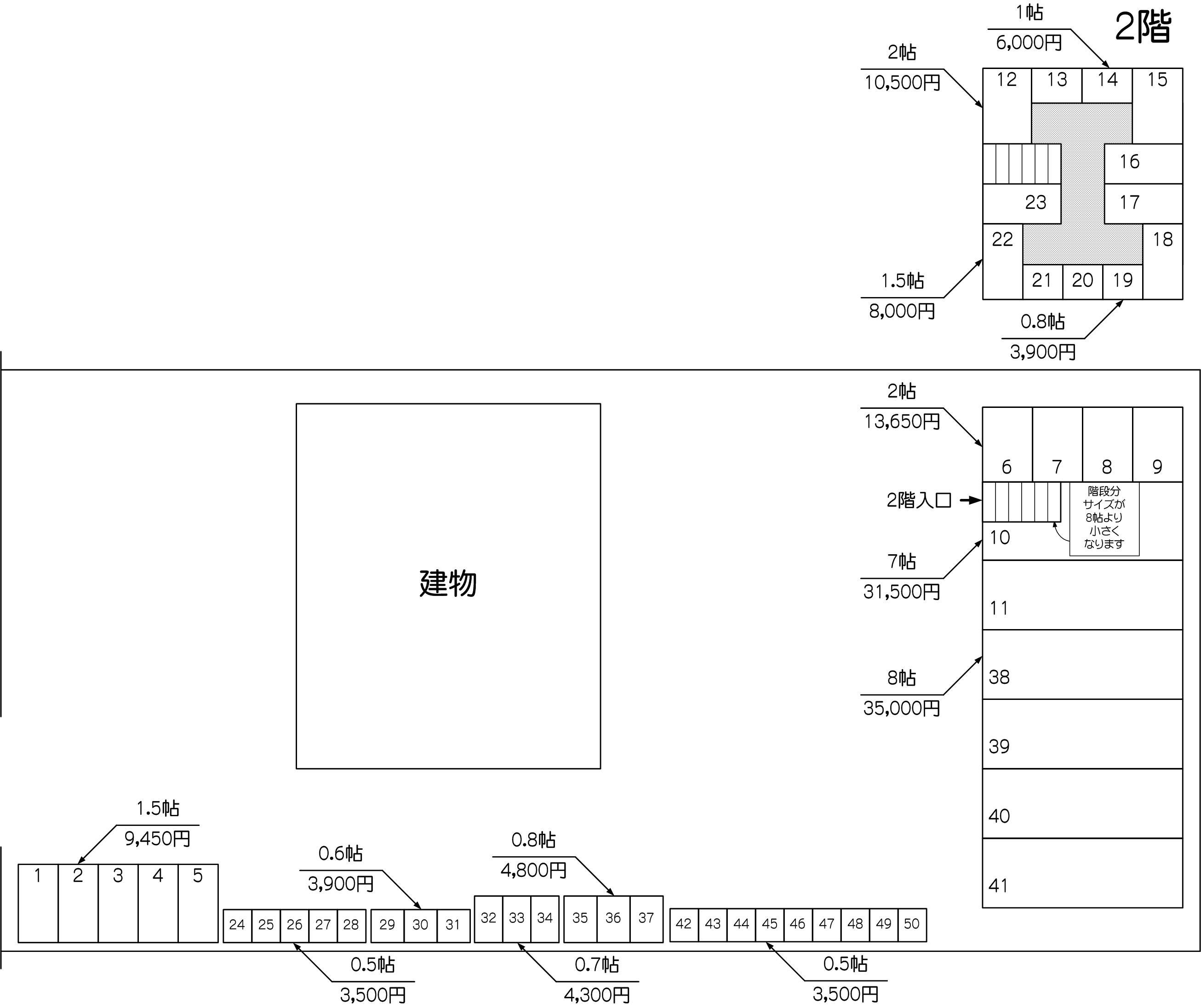 蕨GS店の配置図